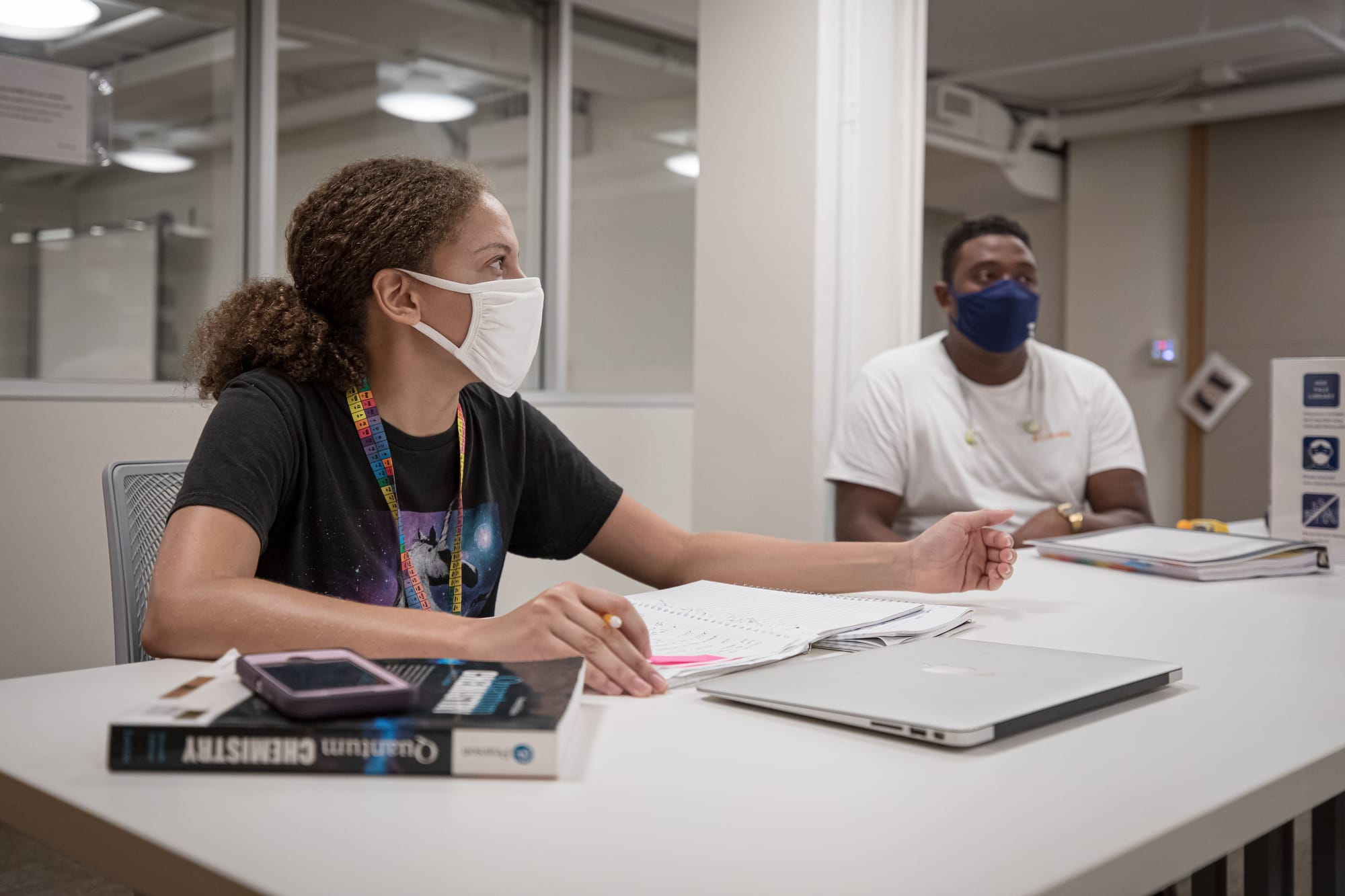 Students at the Marx Science and Social Science Library