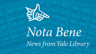 The Nota Bene logo with blue background.