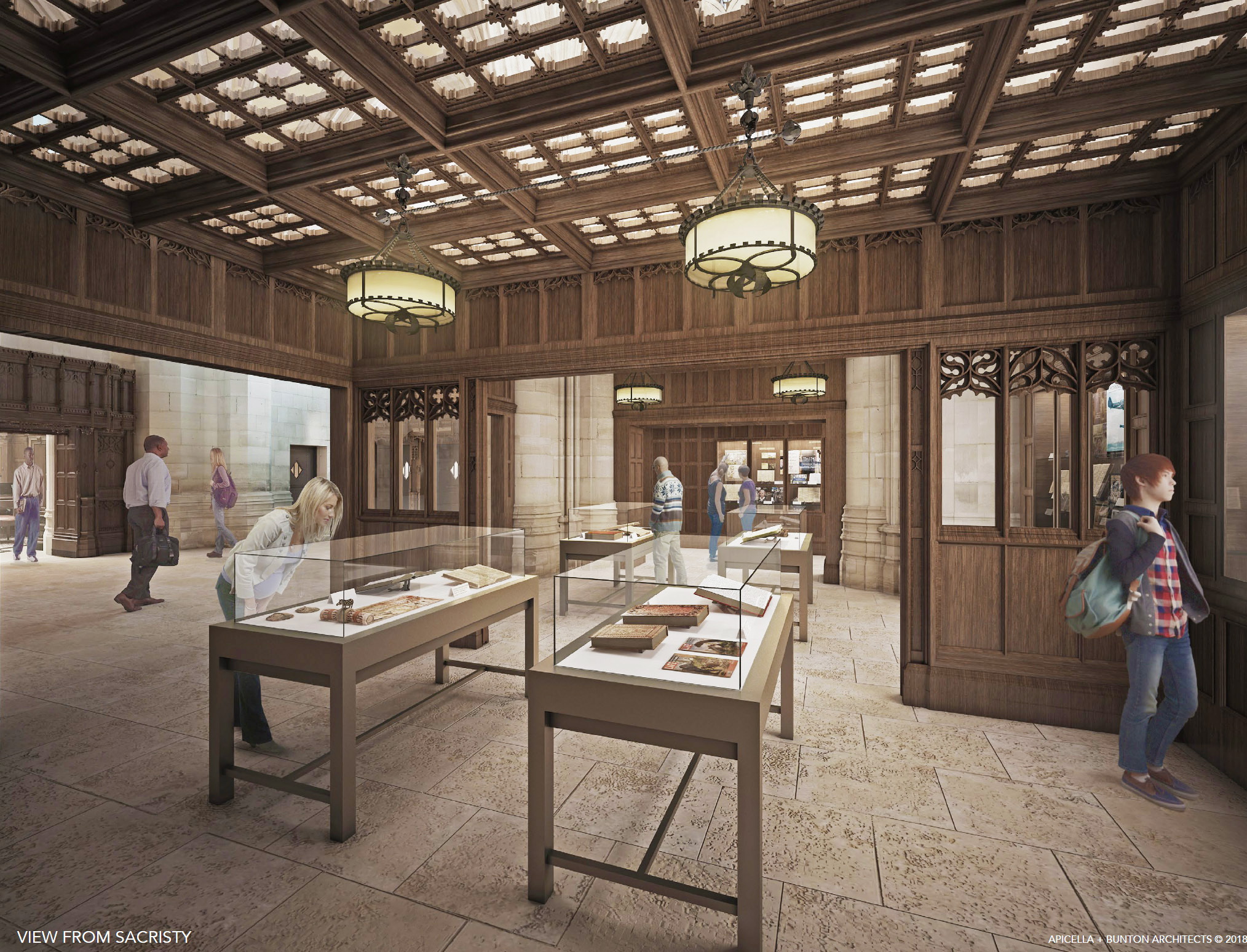 Architect's rendering of gallery space