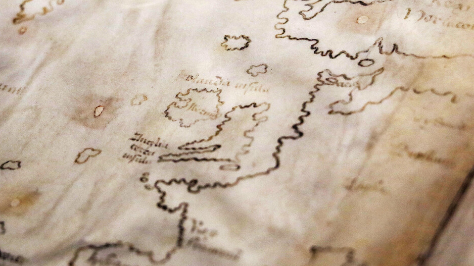 Photo of a section of the Vinland Map